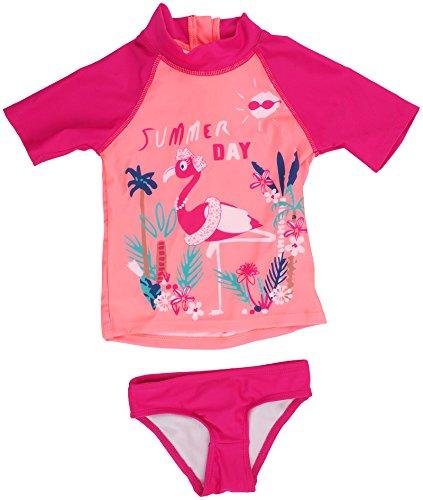 Petit Béguin - Mädchen Badeanzug Bade-Set UV Schutz 50+ Flamingo Gr. 104/110 (4/5J)