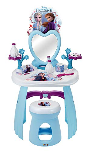 Simba Toys-Frozen 2-Tocador con taburete-10 accesorios-práctico y decorativo (Smoby 320234)