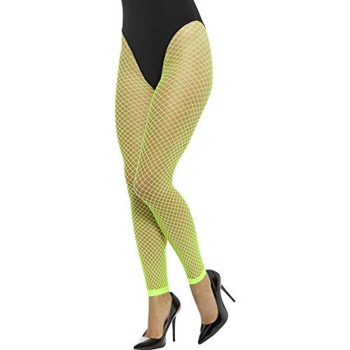 Smiffys Calze Leggings a rete, fluo Donna, Neon Verde, XS/L, 45157