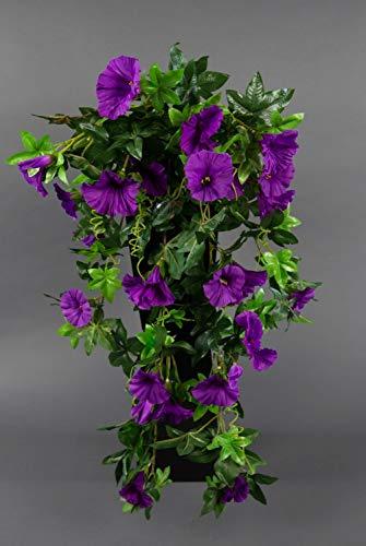 Seidenblumen Roß Petunienranke 65cm lila ZF Kunstpflanzen künstliche Petunie Pflanzen Blumen Kunstblumen Petunienhänger