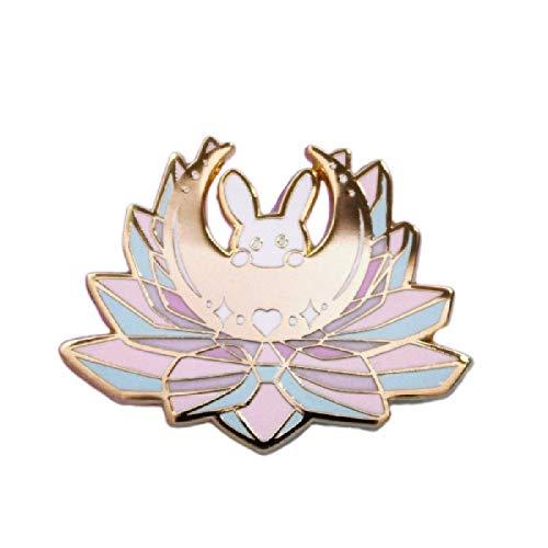 wangk Sailor Moon Inspirado Pin Anime Usagi Tsukino Princesa Serenity Broche Kawaii Cristal Conejito Insignia