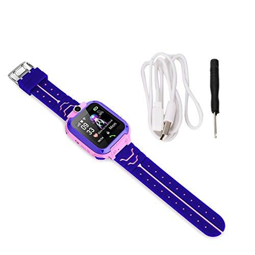 Demeras Reloj Inteligente para Estudiantes Reloj de Seguridad para niños Contacto Seguro para Sorpresa navideña(Rosa)