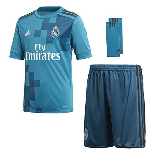 adidas Kinder Real Madrid 3rd Mini Kit, Vivtea/Solgre/White, 140