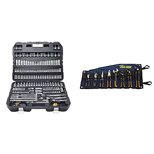 DEWALT (DWMT75049) Mechanics Tool Set, 192-Piece & IRWIN VISE-GRIP GrooveLock Pliers Set, 8-Piece (2078712)