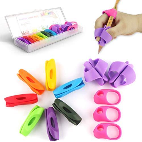 Poignee crayon, Firesara Nouveau design ergonomique Rainbow pencil grips pour enfants, Grip Correction de la posture Formation Supports de rédaction pour adultes Enfants d'âge Lefties et righties