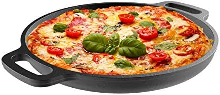 Cast Iron Pizza Pan 13 25 Pre Seasoned Skillet for Cooking Baking Grilling Durable Long Lasting product image
