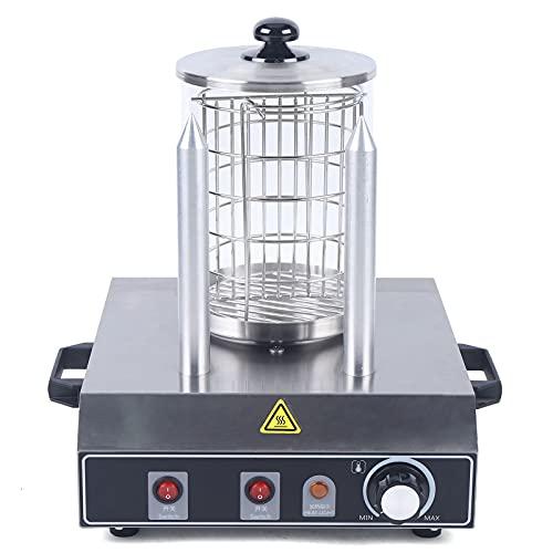 Hot Dog Maker, calentador de hot-dog, máquina de Hot Dog profesional, máquina Hot Dog, jaula de acero inoxidable, 350 W/422 W (máquina de calor + 2 varillas calefactoras)