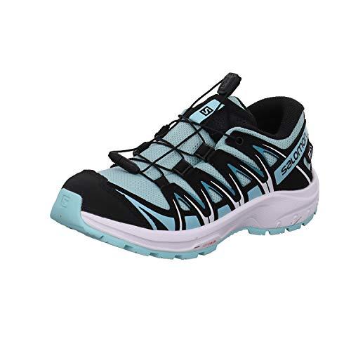 Salomon XA Pro 3D CSWP J, Zapatillas Impermeables De Trail Running Y Outdoor Actividades, Azul Claro/Negro (Pastel Turquoise/Black/Tanager Turquoise), 34 EU