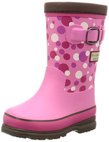[ヒロミチナカノ] レインブーツ 靴 防寒 防滑 ゆったり 14~19cm キッズ HN WC171R ピンク 18 cm 2E