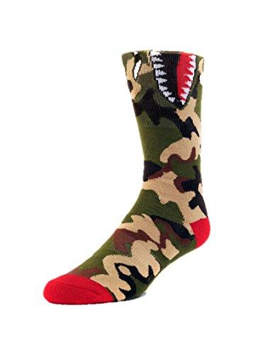 EM Socks Kids Shark Mouth OS Camo