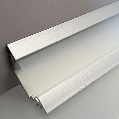 LEDsikon® LED Profil TRIO-T ALU 2m eloxiert + raureife (diffuse) Blende, Set