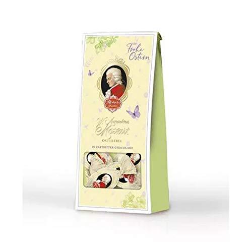 Reber Mozart Ostereier, Pralinen aus Zartbitter-Schokolade, Tolles Geschenk, 4er-Beutel