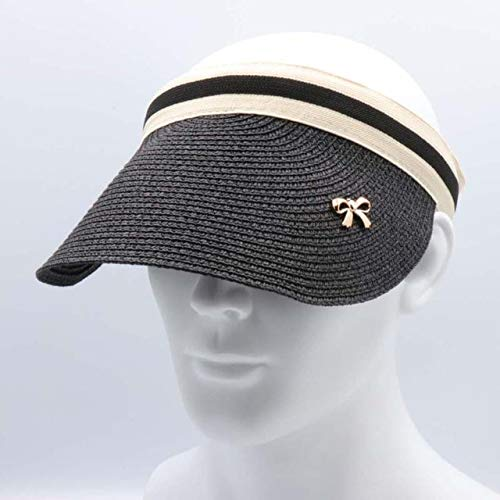QOHNK Nuevo Sombrero Simple de Verano de Paja para el Sol Sombrero...