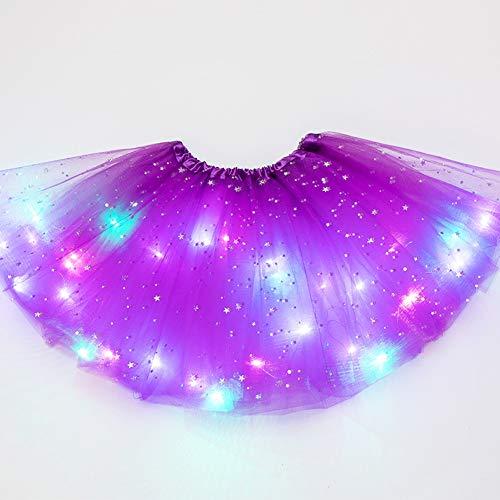 Almabner Mädchen Tutu Rock, süße Mädchen Prinzessin Fancy Fluffy Dancewear Ballett Tanzkostüm, Kinder Stern Pailletten Ballett Rock Prinzessin Funkelndes Kleid Tutu