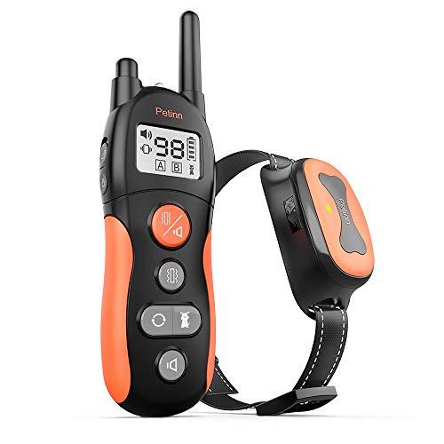 PetInn IP67 Collar Resistente al Agua Collar de Entrenamiento, Larga Espera,Rango de Control Remoto de 660 Yardas,3 Modos de Entrenamiento Efectivos (pitido, vibración, pitido + vibración).