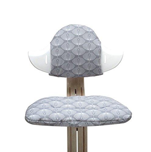 Blausberg Baby - Sitzkissen Set für Nomi Hochstuhl von Evomove - Fountain Grau