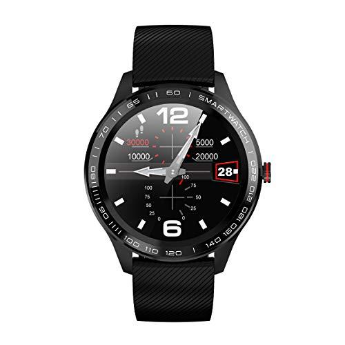 Atlanta Fitnesstracker mit Herzfrequenz Puls Blutdruck Schlaf Schritte Farbdisplay Smartwatch Armband Uhr - 9708 (Schwarz)