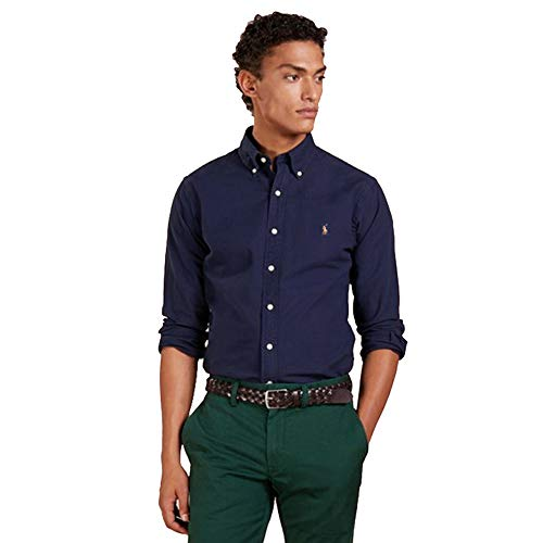 Ralph Lauren Oxford Shirt Slim Fit (L, Newport Navy)