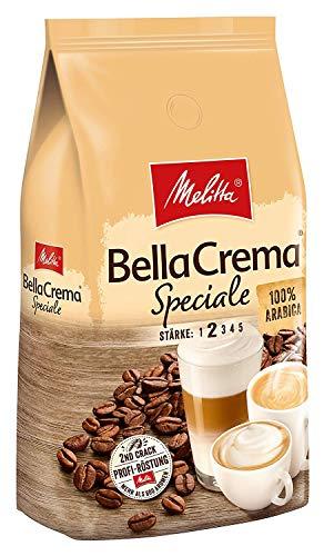 Melitta Ganze Kaffeebohnen, 100{69190b5496d19aa8b9ea1f6c7bdbbfb9383f93f105b308d8c35db946705c1bac} Arabica, milder Geschmack, leichter Charakter, Stärke 2, BellaCrema Speciale, 1kg