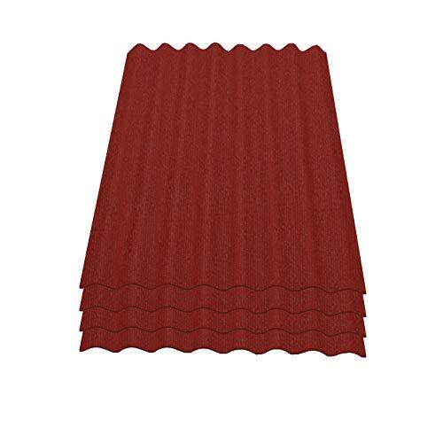 Onduline Easyline Dachplatte Wandplatte Bitumenwellplatten Wellplatte 4x0,76m² - rot