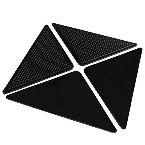 ABOGALE Teppich-Pads, Antirutschmatte, Anti Rutsch Pad für Teppich Anti-Rutsch-Matte Teppichunterlage Teppichgreifer, Wiederverwendbare Pads für Fliesenböden(BK)