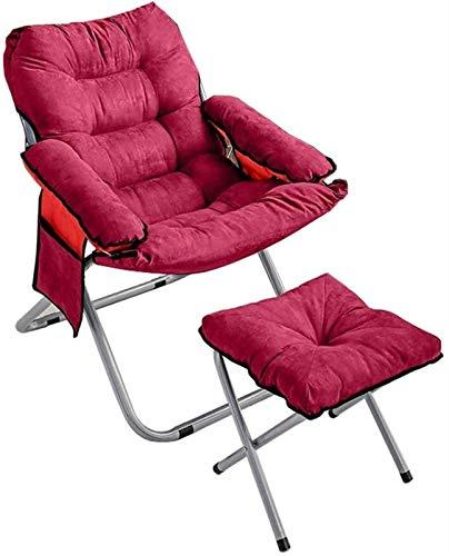 N/Z Wohngeräte Outdoor-Liegestühle Klappdeckstuhl Esszimmerstuhl Bürostuhl Schlafzimmer Wohnzimmer Balkon Sonnenliege Campingstuhl Tragbarer Reiseklappstuhl (Farbe: A)