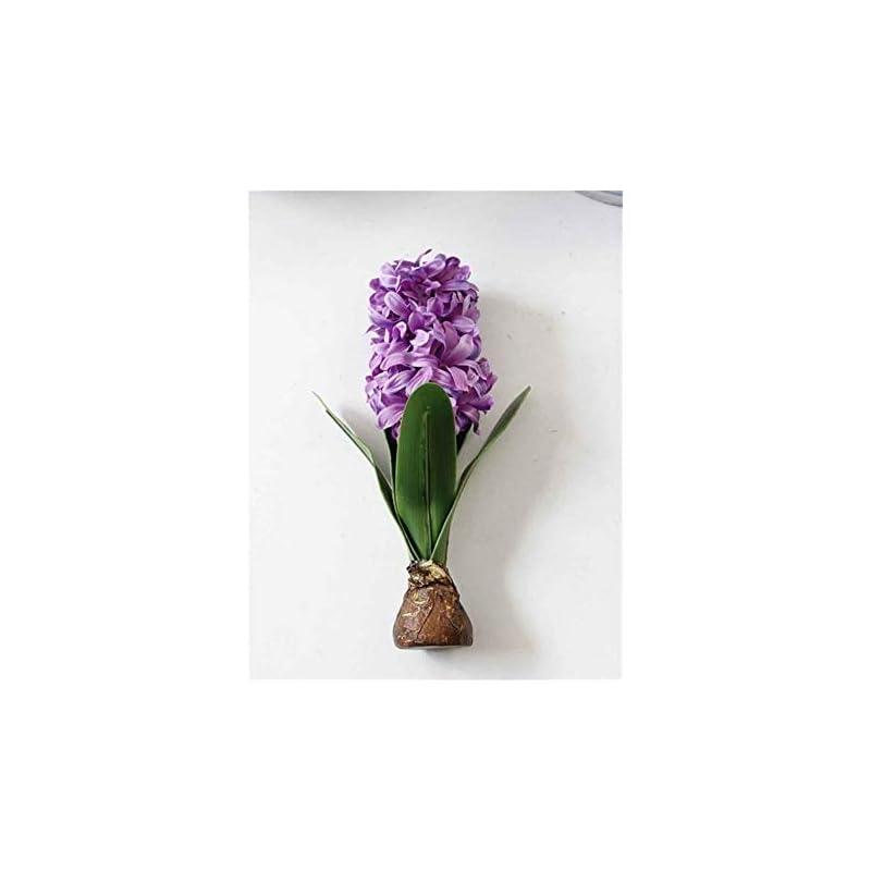 silk flower arrangements yyjht artificial flowers artificial flower hyacinth with bulbs ceramics silk flower simulation leaf wedding garden decor home table accessorie plant 1pc (color : purple)
