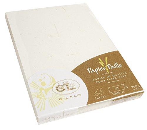 Papel tarjetas de comensal Lalo pajita Paille (20 unidades)