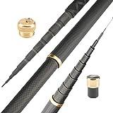 N/F Canne à pêche télescopique en Fibre de Carbone Dure Super légère Canne à pêche télescopique 2.7M / 3.6M / 3.9M / 4.5M / 5.4M / 6.3M / 7.2M / 8M / 9M / 10M Canne à Courant