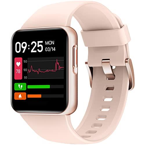 """Weofly Smartwatch, Reloj Inteligente con Impermeable 5ATM, 1.4"""" Pulsera de Actividad para Hombre Mujer con Monitor de Sueño/Pulsómetro, Oxígeno Sanguíneo, Caloría, Podómetro para Android iOS"""