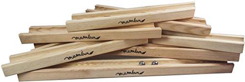 mumba Große XXL Holz Kugelbahn Starterset Gesamtlänge ungefähr 4,75m Holzspielzeug Made in Germany