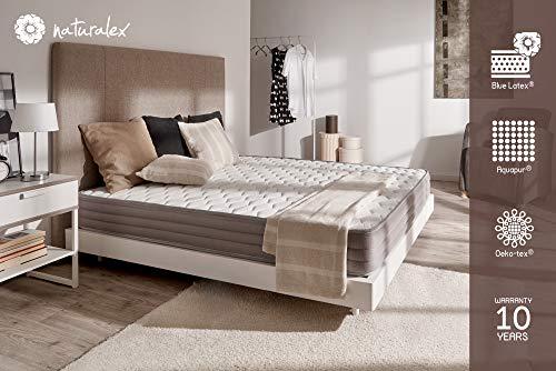 Naturalex materasso Aerolatex 90 x 190 cm reversible 7 zone comfort, 19 centimeter profondità