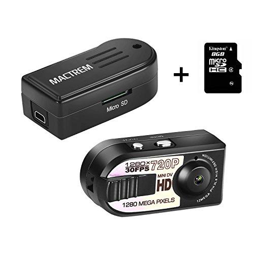 Mactrem - Mini DV Videocámara 1280x720P de la Cámara Espía de Seguridad Grabadora de Video DVR