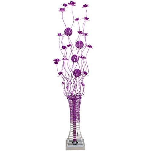Chengxin Lezen, staande lamp, moderne, creatieve staande tafellamp met gekleurde bloemen-detail-aluminium metalen vaas bloemen design-vloerlamp staande lampen