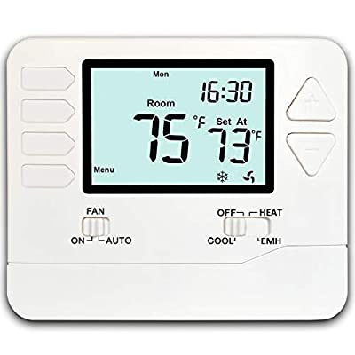 Heagstat H721 Non-Programmable Heat Pump Thermostat, 2 Heat/1 Cool, with 4.5 sq. Inch Display