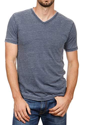 Lucky Brand Men's Venice Burnout V-Neck Tee Shirt, American Navy, X-Large
