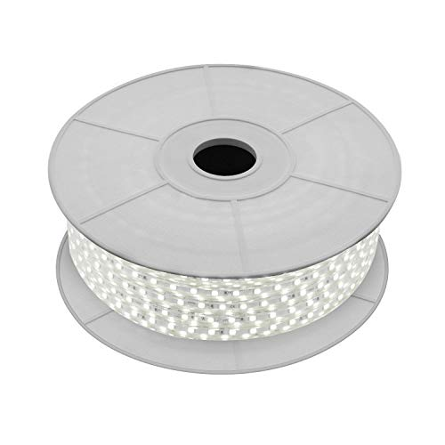 LEDKIA LIGHTING Bobina de Tira LED Regulable 220V AC 60 LED/m 50m Blanco Neutro IP65 Corte cada 100cm