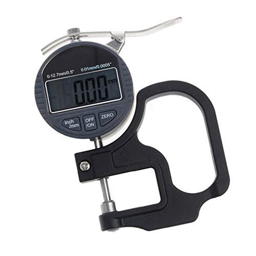 PETSOLA 0-12.7mm Medidor De Espesor Digital Micrómetro Electrónico Calibre 0.01mm