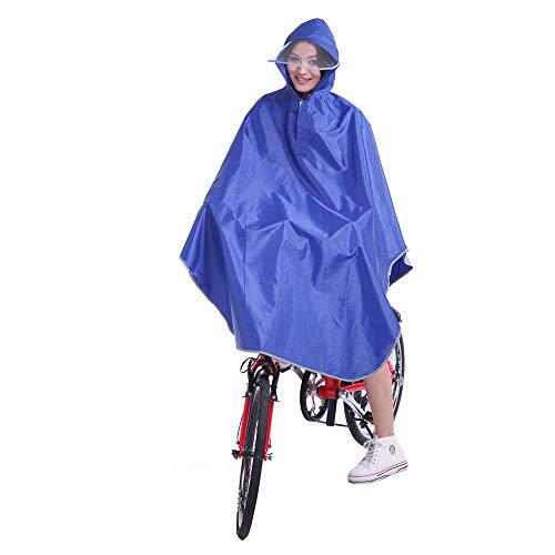 QARYYQ Regenjas Poncho Hoodie Regenjas Sjaal Outdoor Fiets Motorfiets Scooter Waterdichte Regen Poncho (Kleur : Saffier blauw, Maat : XXXL)