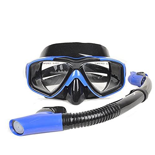 Conjunto de Snorkel seco, Vista panorámica Amplia, máscara de Buceo antivaho, Equipo de respiración fácil y Snorkel Profesional para Adultos