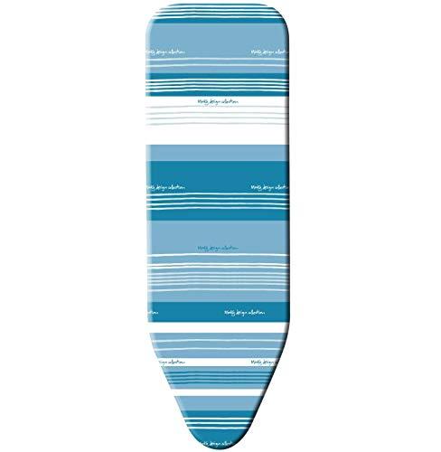 Minky Marine Bügelbrett, Familiengröße, Stahl, Weiß und Blau, 114 x 38 cm - 7