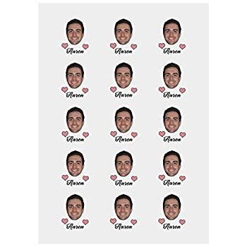 Personalized Temporary Tattoo Custom Name Boy Face Custom Tatto Paper 1 Set of 15 Pieces
