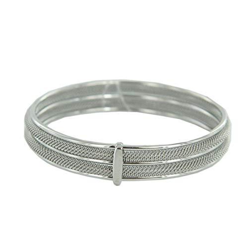 Skagen Damen Armreif Armband Milanaiseband silber JGSS029M