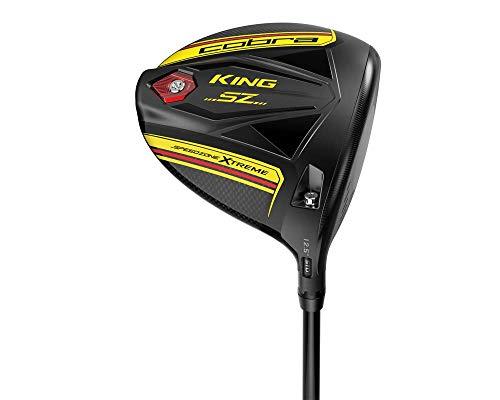 Cobra Golf 2020 Speedzone Extreme Driver für Kinder, Unisex, Cobra Golf 2020 Speedzone Extreme Junior Driver Black-Yellow, schwarz-weiß