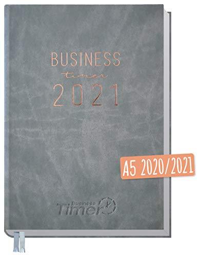 Chäff Business-Timer 2020/2021 A5 grau | Wochenplaner 18 Monate: Juli 2020 - Dezember 2021 | Wochenkalender, Organizer, Terminkalender für perfektes Zeitmanagement | klimaneutral & nachhaltig