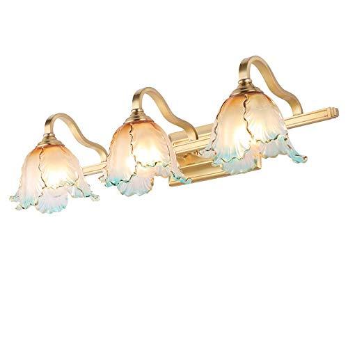 T-YJQD Américain miroir phares lampe de salle de bains led lampe de cuivre miroir armoire murale lampe maquillage lampe de salle de bains miroir armoire lampe européenne lampes, trois têtes, 9 w