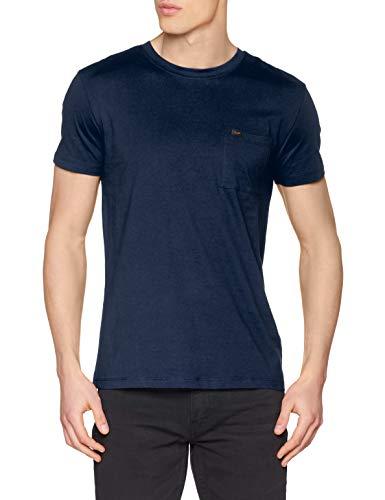Lee Mens Ultimate Pocket Tee T-Shirt, Sky Captain, M
