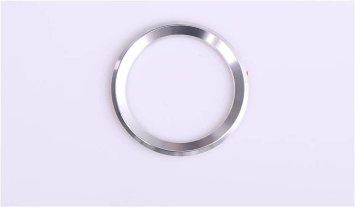 Aluminum Steering Wheel Center Decoration Cover for BMW 2 3 5 7 X1 X2 X3 X5 X6 X7 Series Silver