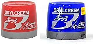 Brylcreem Aqua-Oxy Hair Styling Cream Original Nourishing 250ml & Aqua-Oxy Lite Nourishing Scalp Care Styling Cream 250ml Combo Pack