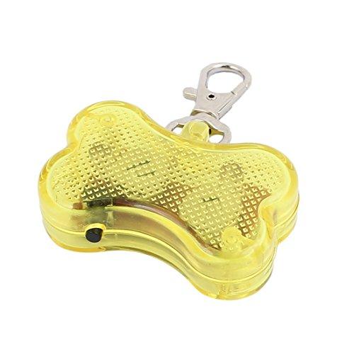 Aexit Gelbe LED Licht Knochenform Hund Blinker Blinkende Sicherheit Anhänger Kragen Geschenk (fca9780e13daac0a351c844659bb74bc)